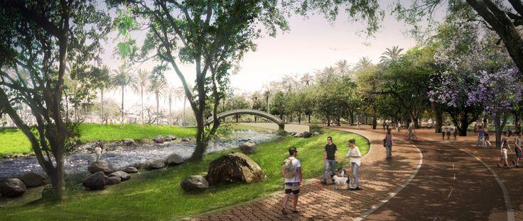 Um sonho atravessado por um rio: Parque Linear Rio Cali, Colômbia, Cortesia de  West 8