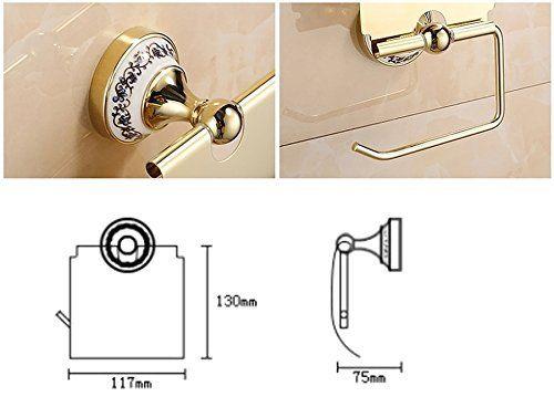 トイレットペーパー ホルダー ヨーロピアン アンティーク ゴールド ゴージャスな鏡面加工
