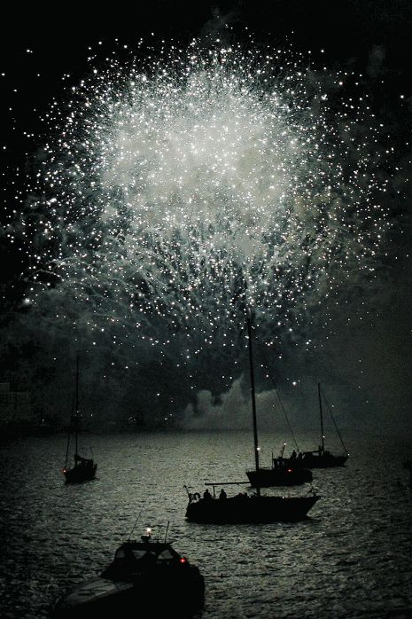 New Years on the Stavanger Harbor
