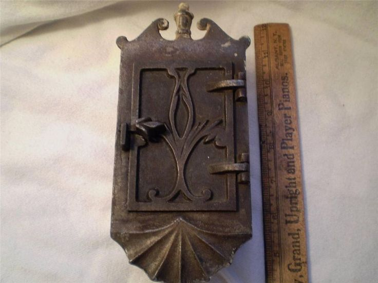 Vintage Brass Speakeasy Door Knocker Peephole Window