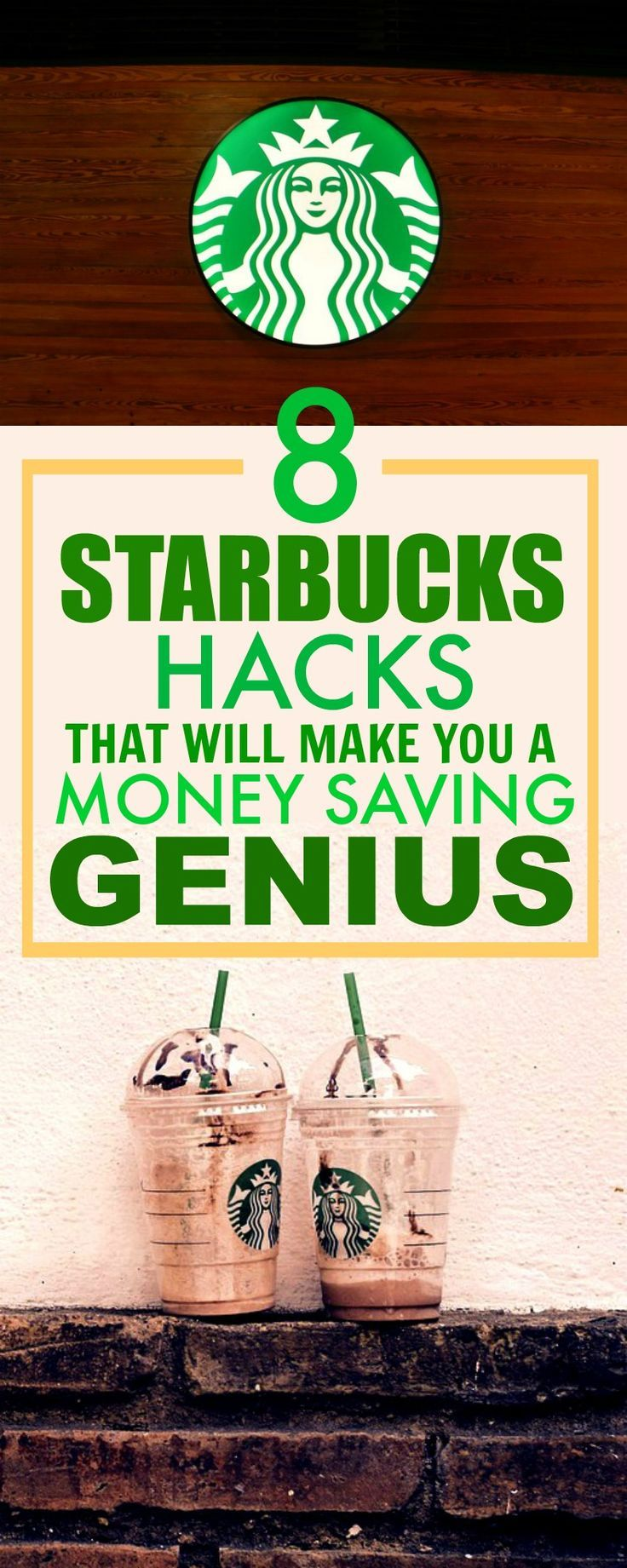 These 8 money saving hacks and tips for Starbucks are THE BEST! I've already tried 2 and 3 and I've saved some money. This is such a GREAT post! So happy I found this!