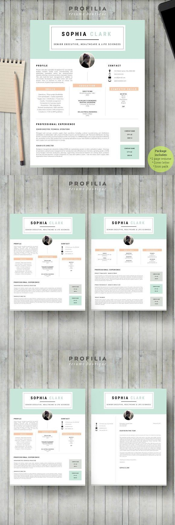 Word Resume & Cover letter Template. Resume Templates