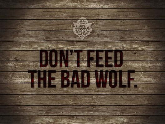 Don't Feed the Bad Wolf....  Cherokee legend.