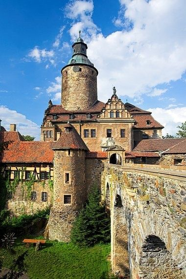 Czocha Castle is a defensive castle in the Czocha village (Gmina Lesna), in Lubań County, Lower Silesian Voivodeship (southwestern Poland). The castle is located on the Lake Leśnia, near the Kwisa river, in what is now the Polish part of Upper Lusatia.