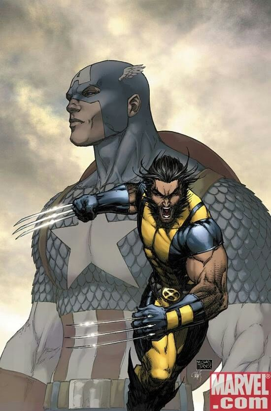 Captain America & Wolverine by Michael Turner