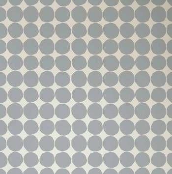 Wallpaper: Pienet Kivet in Grey by Marimekko.