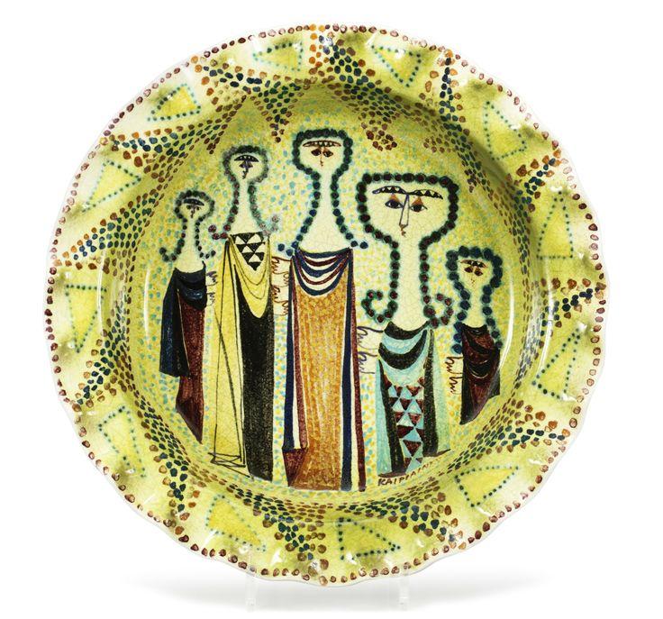 Birger Kaipainen; Glazed Earthenware Bowl for Arabia, c1950.