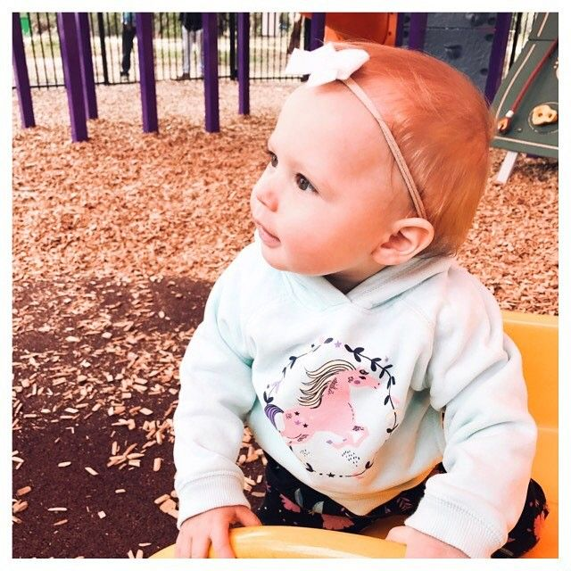 """35 Likes, 3 Comments - J A S M I N A 💋 (@jazzi_adores) on Instagram: """"Our bubba girl looking cute in @targetaus and @thepolkadotbowco 💕 . . . . . #baby #girl #fun #park…"""""""