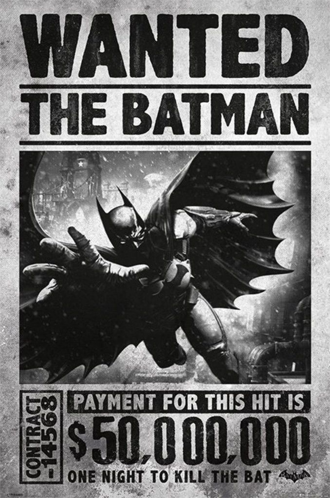 Batman - Arkham Origins - Wanted - Official Poster