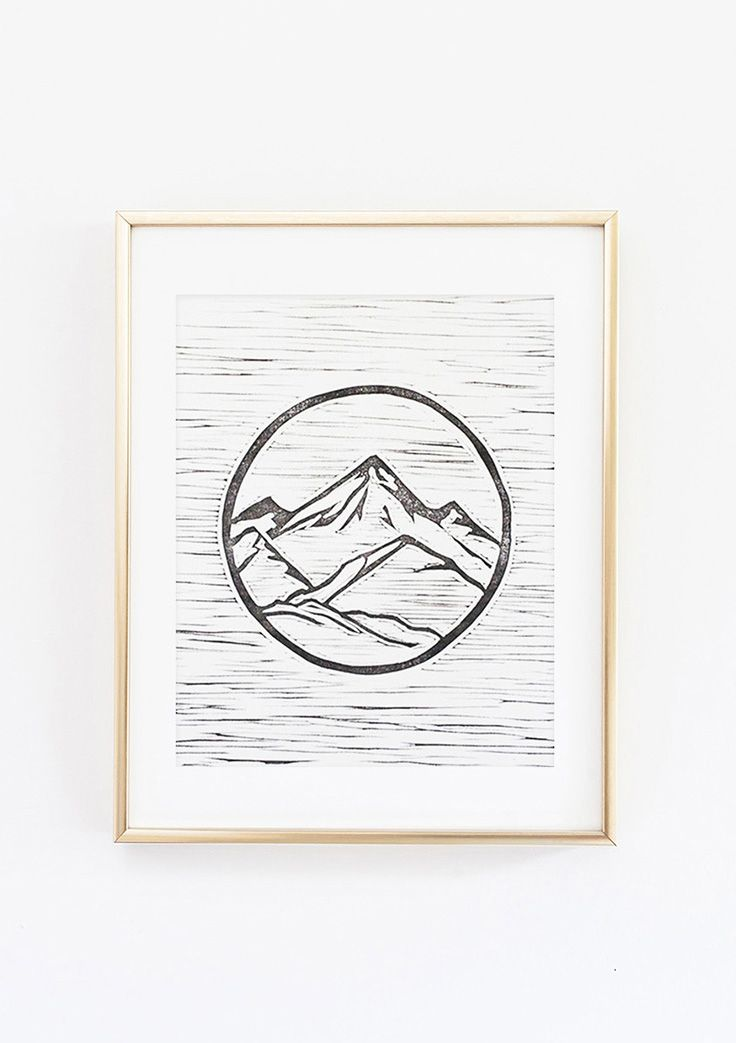 Set Forth Studio – Mountains Linocut Print, $45 // This art print (part of our nature series) will look gorgeous on your wall, and makes a great gift. Buy it now in the shop!