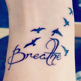 Sometimes we all need a reminder to breathe. When it's busy. When we're stressed. I had my reminder tatooed on my wrist last year for my 38th birthday. This evening it's a welcome reminder. Life is hard. Its challenging. There will always be ups and downs. Breathe through it. And look after yourself and each other. #mentalhealthawareness #mentalhealth #anxiety #ruok #depression #breathe #tattoo #care #loveyourself #selfcare #love
