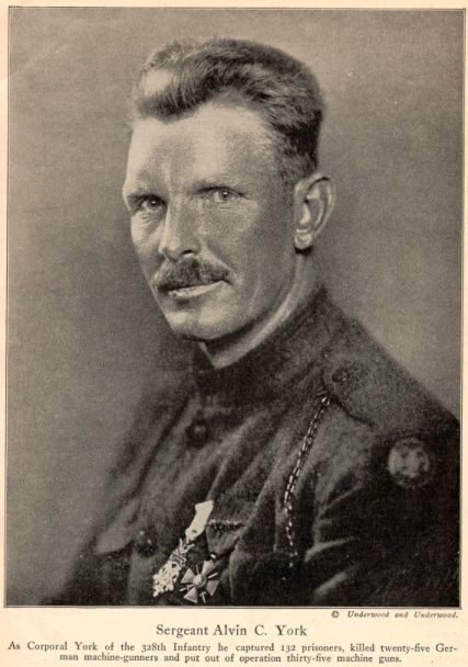 The REAL Sargent York!  Sergeant Alvin C. York was the most decorated soldier of World War I and who also received the medal of honor. If you ever get the chance, watch the movie Sargent York. Excellent movie.