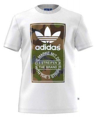 adidas originals Camo Label Tee White Man. Ropa hombre, Camisetas comprar y ofertas en Dressinn