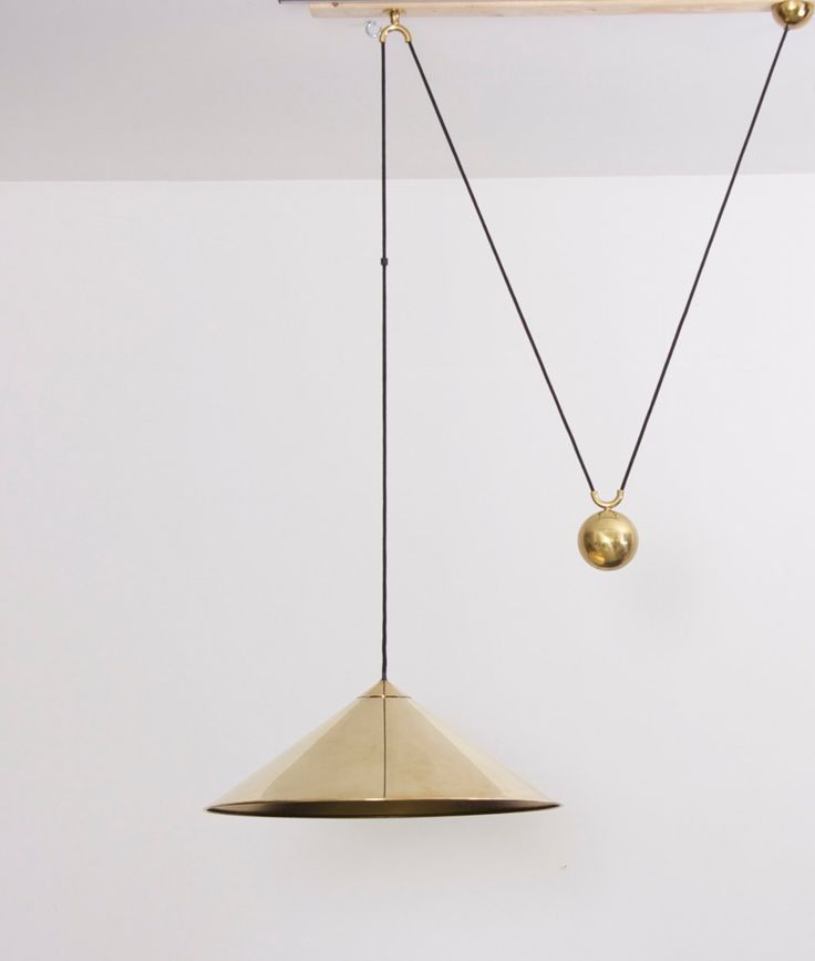 Great Florian Schulz Keos Extra Large Counterweight Pendant Lamp Brass Nice Ideas