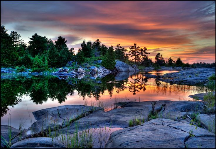 Sunset in Parry Sound, ON, Canada