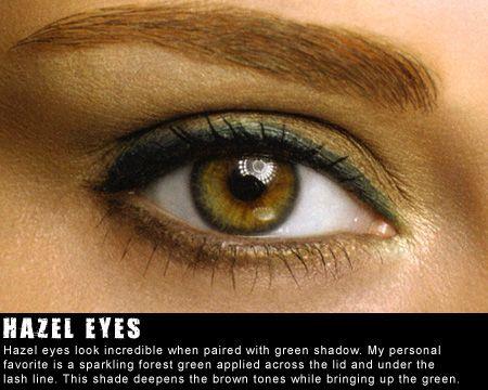 Hazel eyes.