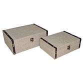 Wayfair - 9 Rectangular Box in Plain Linen (Set of 2)