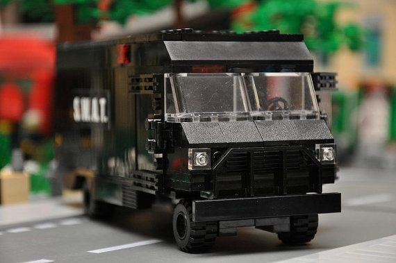 Black Custom City Police SWAT Truck Model built by ABSDistributors
