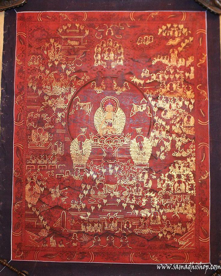 Buddha's life thangka painting 40x50 cm