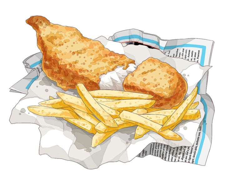 fish and chips clipart - photo #18