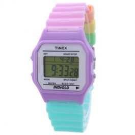 Timex Unisex 80 Multi-Color Resin Strap Watch T2N486