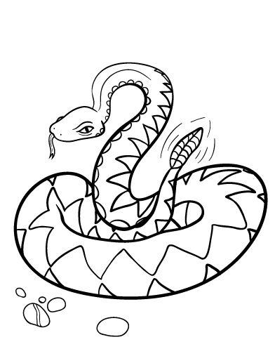 Diamondback Rattlesnake Coloring Coloring Pages Rattlesnake Coloring Page