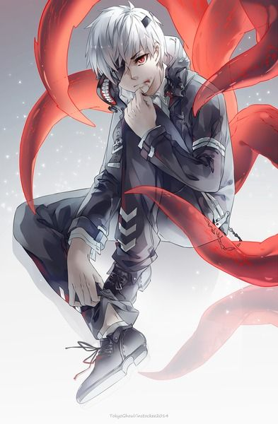 Kaneki | Tokyo Ghoul got to love the white hair :P