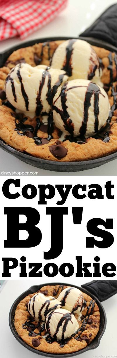 Copycat BJ's Pizookie- With just a few ingredients and very little time, you can enjoy a Pizza Cookie right at home for a fraction of the cost.
