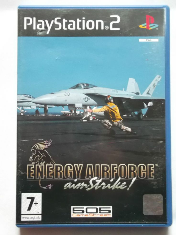 Energy Airforce Aim Strike Sony Playstation PS2 Flight Simulator Game PAL