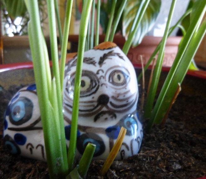 Vintage Mexican Ceramic Cat, Art Pottery, Folk Art, Animal Figurine, Handmade by…