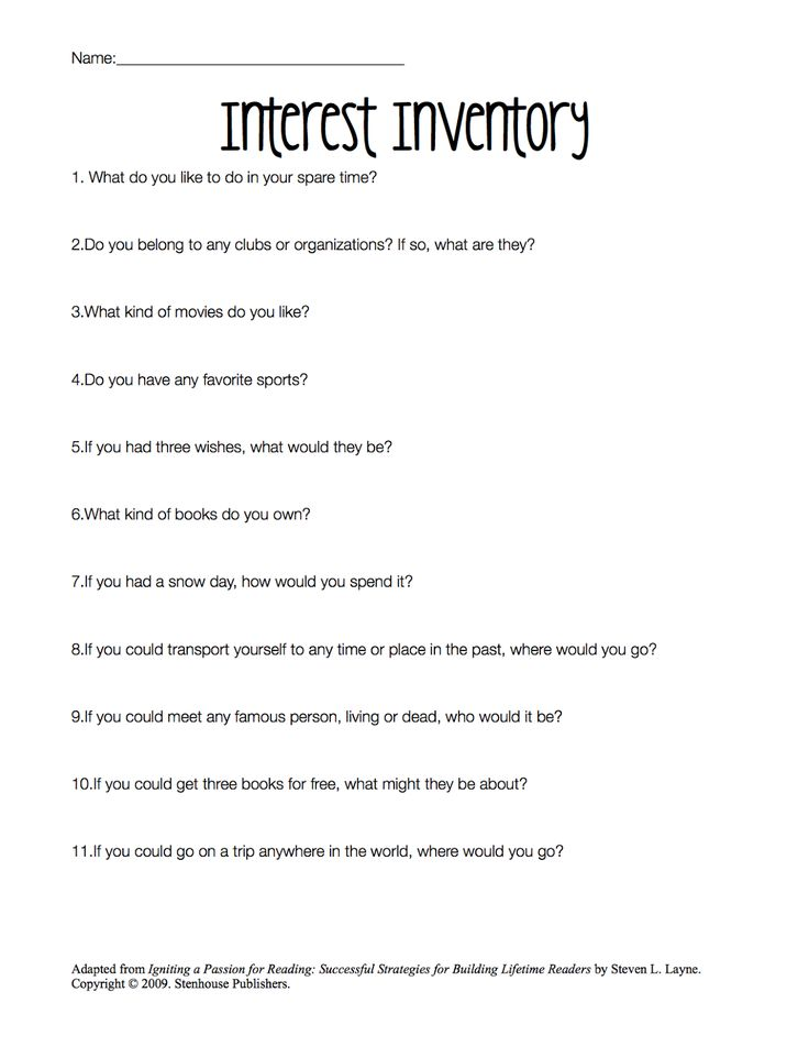 Best 25+ Reading interest inventory ideas on Pinterest Student - student survey template