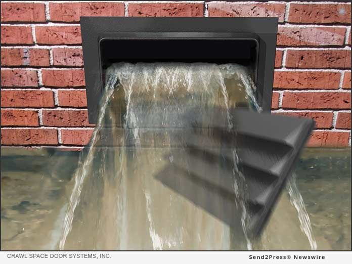 New Flood Vent Can Reduce Flood Insurance Costs By Up To 85 Percent Flood Insurance The Crawl Crawl Space Door