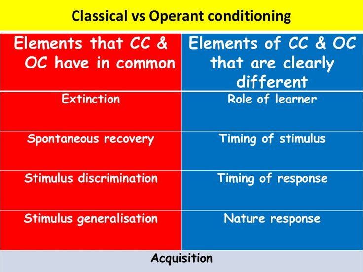 What Are the Differences Between Classical and Operant Conditioning?