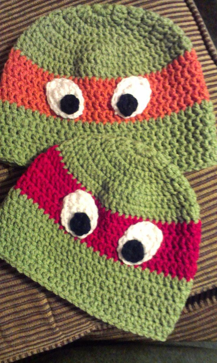 Ninja Turtle Crochet Hat FREE Pattern