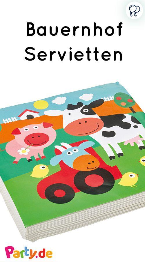 Bauernhof Servietten Mit Tiermotiv Perfekt Fur Den Bauernhof