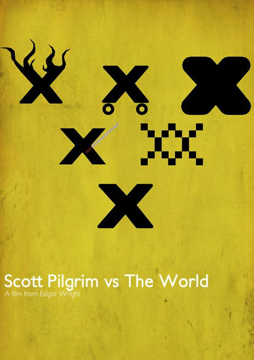 Scott Pilgrim vs The World by elderpaper (via minimalmovieposters.tumblr.com)