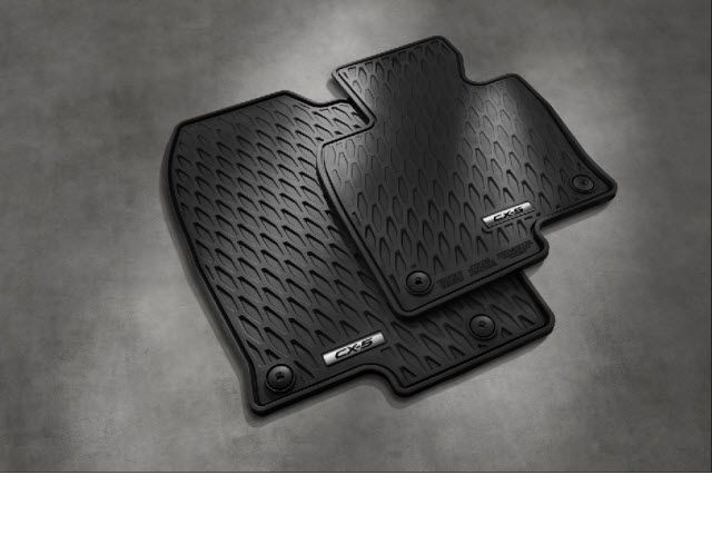 GENUINE FLOOR MAT RUBBER ALL WEATHER (2017 CX-5, SET OF 4) ( IN STOCK NOW ) - MAZDA (0000-8B-R21) *** Buy now on sale a MazdaSwag.com | #Mazda #MazdaAccessories #MazdaParts