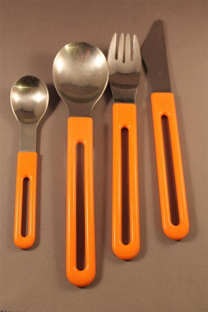 Extrem selten! Besteck Set 16 Teile WMF FUTURA 70er Jahre ORANGE Pop 70s cutlery