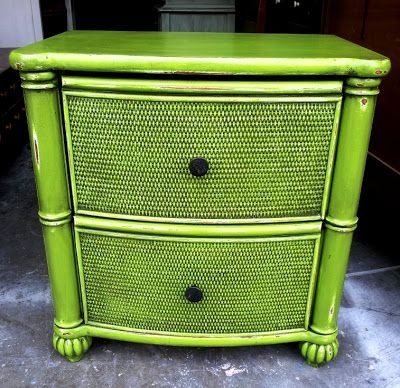 Lime Green Nightstand - Nine Needing a New Look - Facelift Furniture