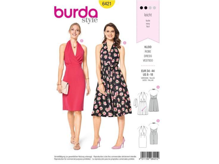Sewing pattern dress, Burda 6421   tissus-hemmers.fr