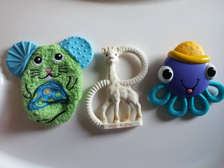 3 of 6 Top Teething Toys for babies under 6 months! Check out the rest of the list!