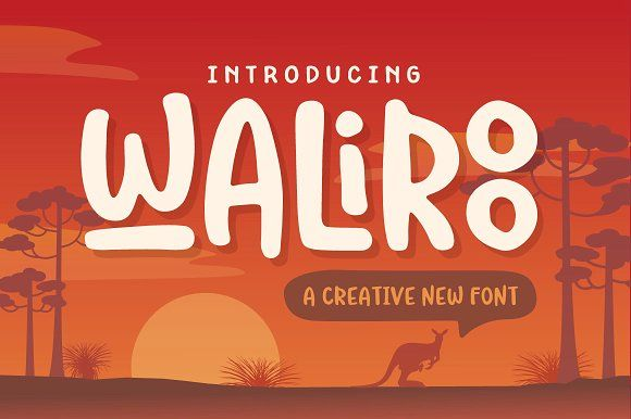 Waliroo Font by Denise Chandler on @creativemarket