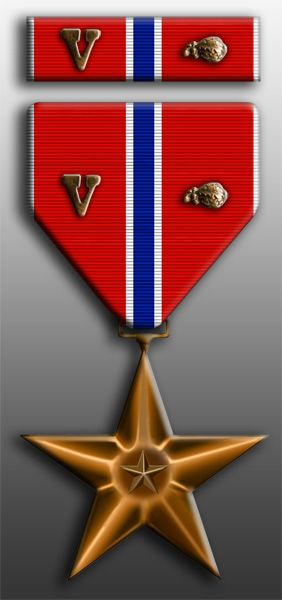 "Bronze Star with ""V"" for Valor Device and Oak Leaf Cluster.  Joe has two of these.  The ""V"" means it was earned in a combat situation and the Oak Leaf means it is the 2nd or more."