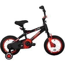 """12"""" Jeep X12 Boys' Bike by Jeep. $149.98. The Jeep X12 Bike is trail rated and ready to go! This rugged Jeep Bike for boys comes equipped with a steel frame and real suspension fork that soaks up bumps, big or small. The design makes this boys' bike tough and durable, so it can be used as a child's first bike, or a bike for the seasoned rider. With a CPSC full-wrap chain guard and padded cross bars, this Jeep Bike provides extensive safety features. The Jeep X1..."""
