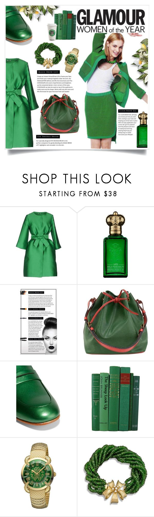 """""""Green Workwear"""" by atikazahra on Polyvore featuring P.A.R.O.S.H., Clive Christian, Chelsea Beautique, Louis Vuitton, Goody, Roberto Cavalli, WorkWear, emeraldgreen and polyvorecontest"""