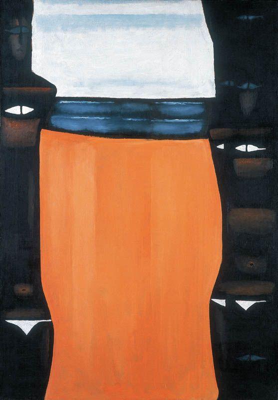Jerzy Nowosielski   Dziewczyny nad morzem, 1980   oil on canvas