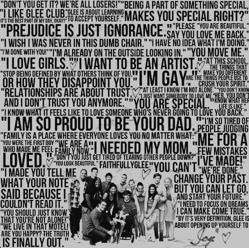 Glee quotes ❤️