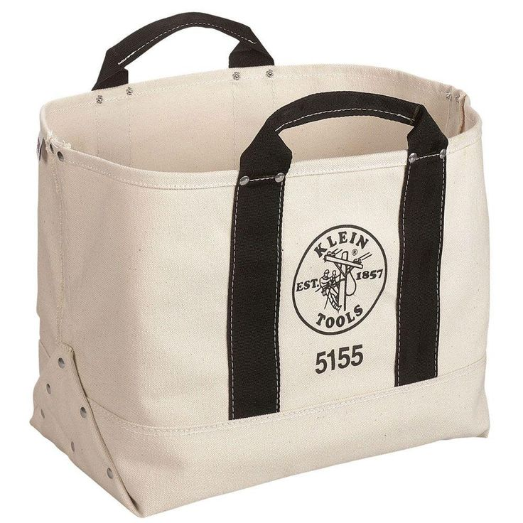 17 in. Canvas Tool Bag, Natural