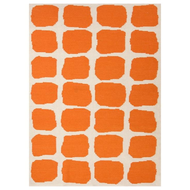 Jaipur Maroc Sabra White/Orange Flat Weave Rug