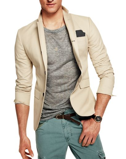 The Suit-Jacket Tee  A sport coat or suit works best with a designer tee, like this fashionably slouchy one.    T by Alexander Wang